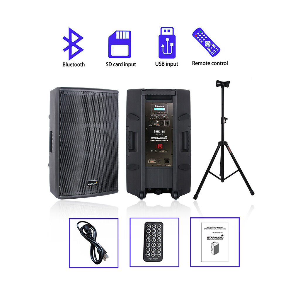 staraudio vhf wireless 4ch hand held pro stage microphone pa dj mic system ebay. Black Bedroom Furniture Sets. Home Design Ideas