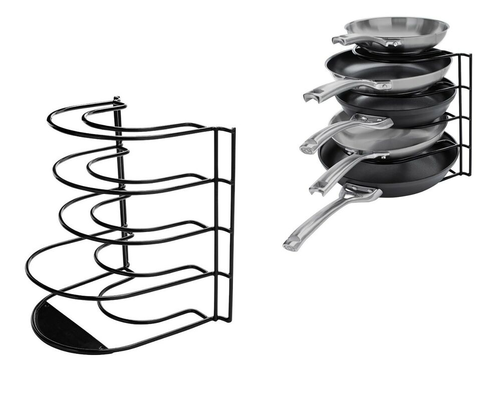Pot Pan Organizer Rack Cookware Holder Shelf Cabinet ...