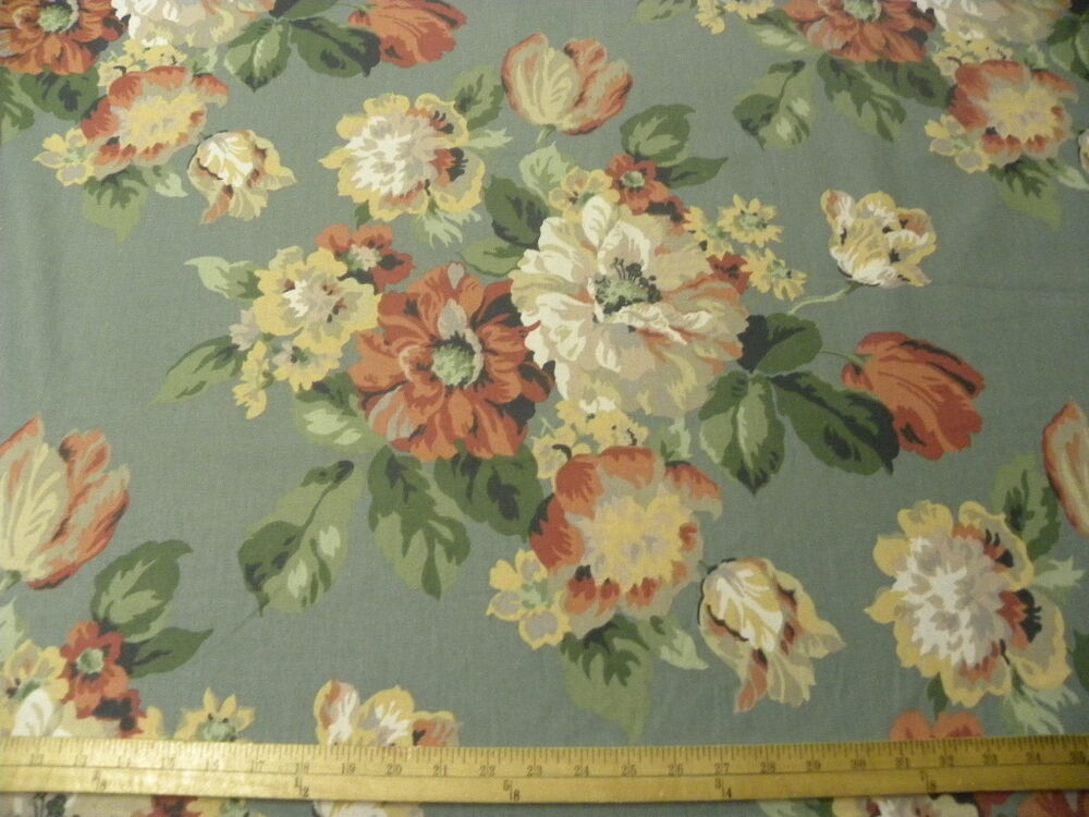 By the yard victorian country floral drapery home decor for Victorian floral fabric