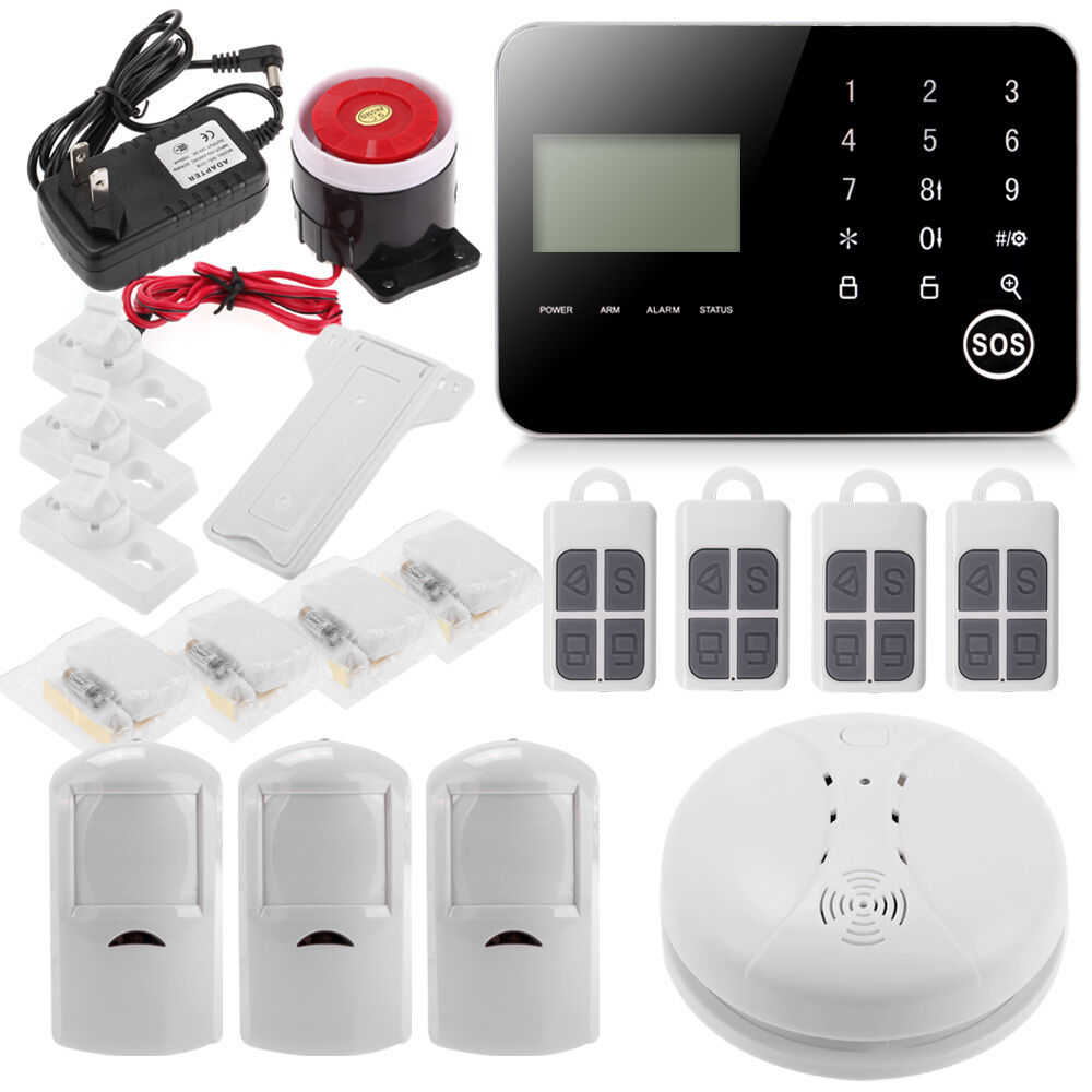 wireless diy home security alarm smoke burglar system ios