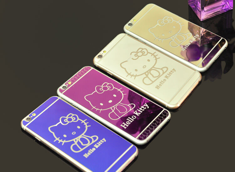 fd7dd4dcd8 Hello Kitty Tempered Glass Screen Protector for iphone 6Plus front back+TPU  Case