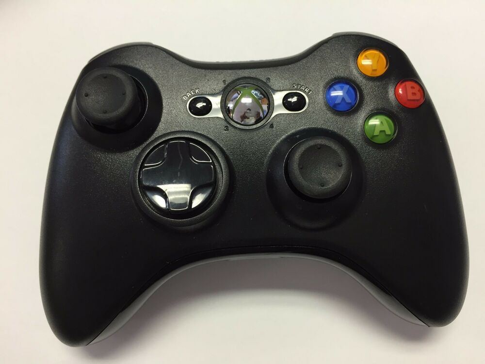 Old Xbox Controller Games : Original black wireless game remote controller for