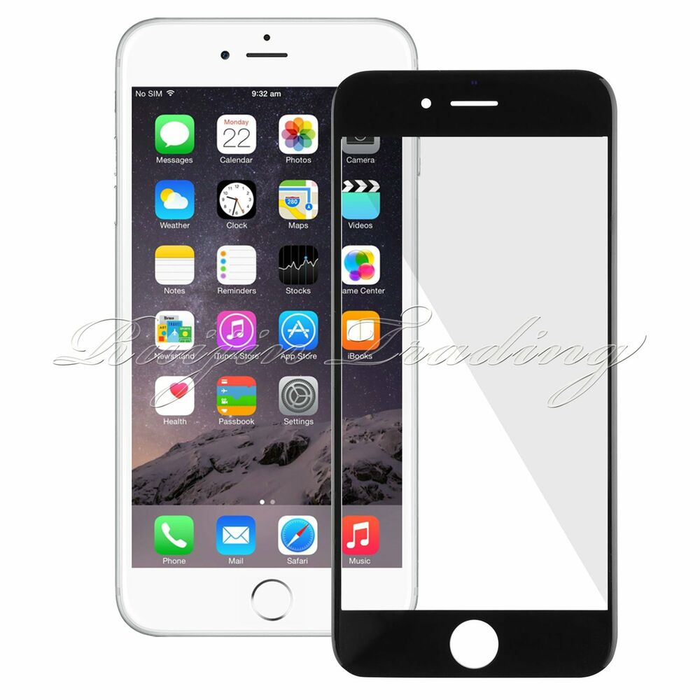 iphone 6 replacement glass black front replacement outer screen glass cover repair 15063
