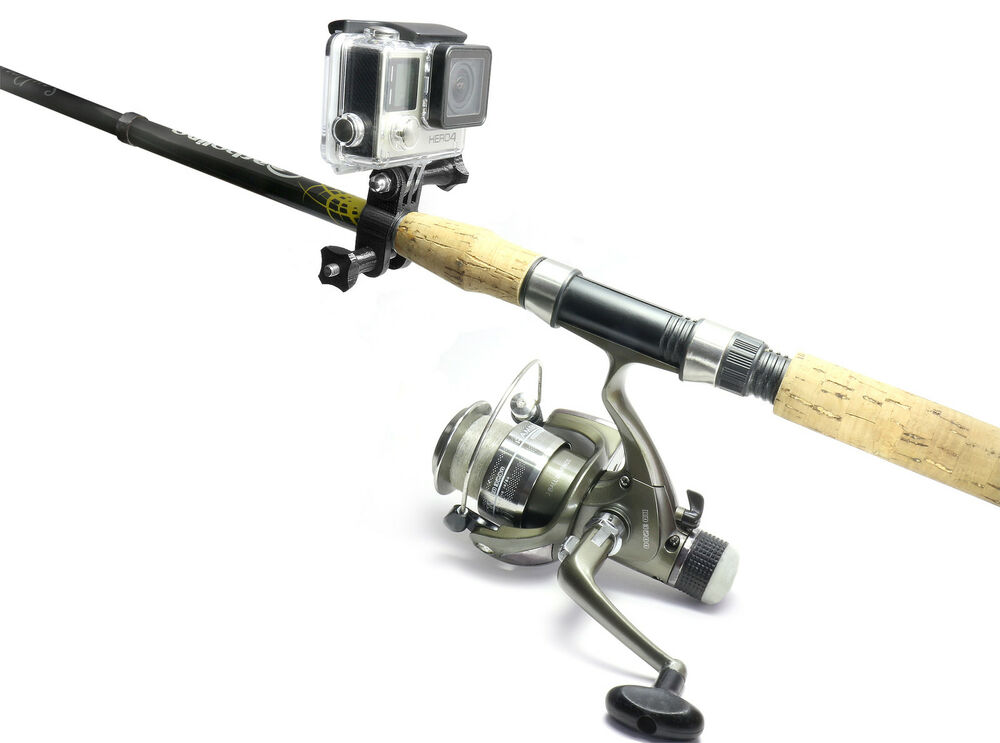 Fishing rod mount f gopro hero 3 4 session angel for Best gopro for fishing