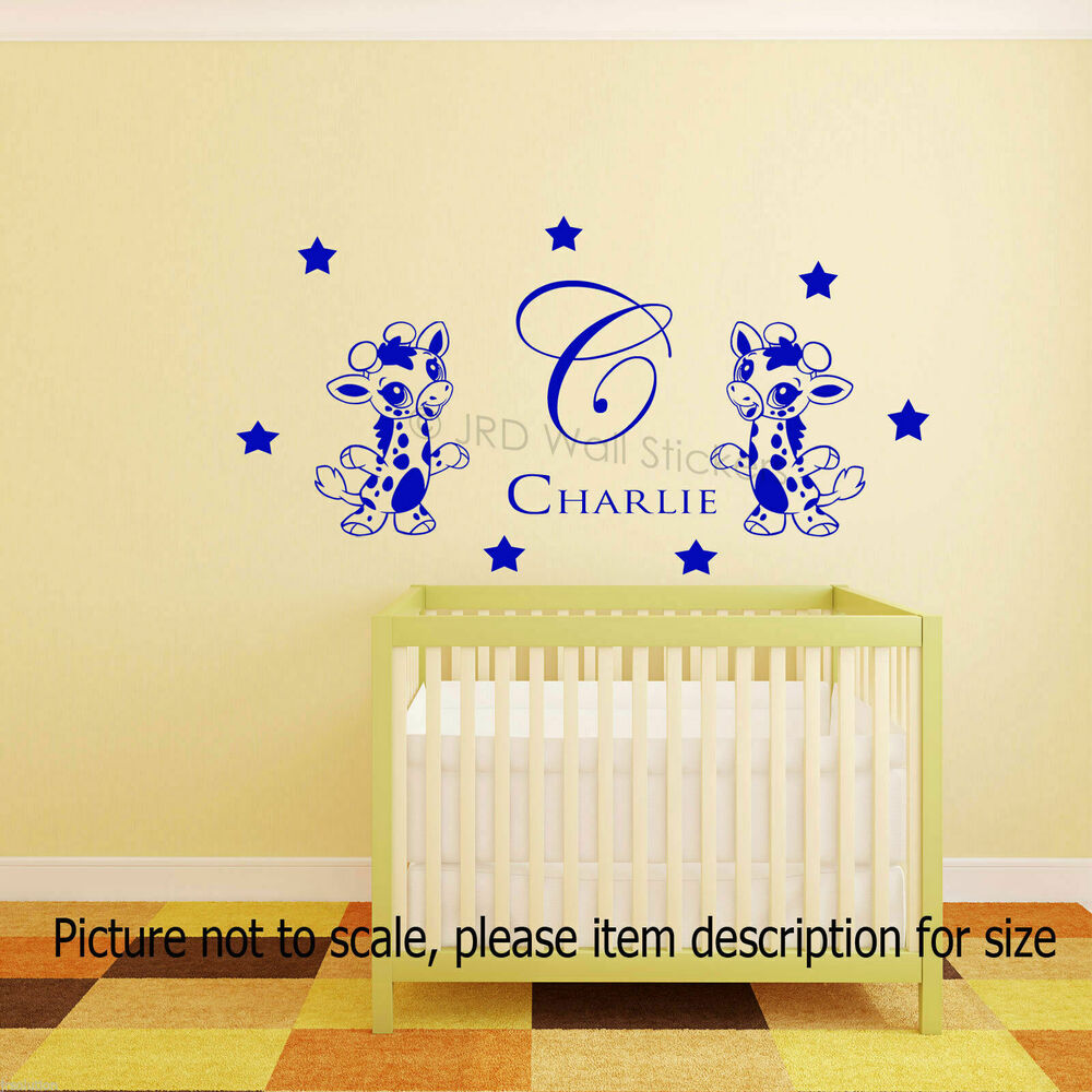 Baby Boys Personalised Wall Stickers Name Initial nursery Art ...
