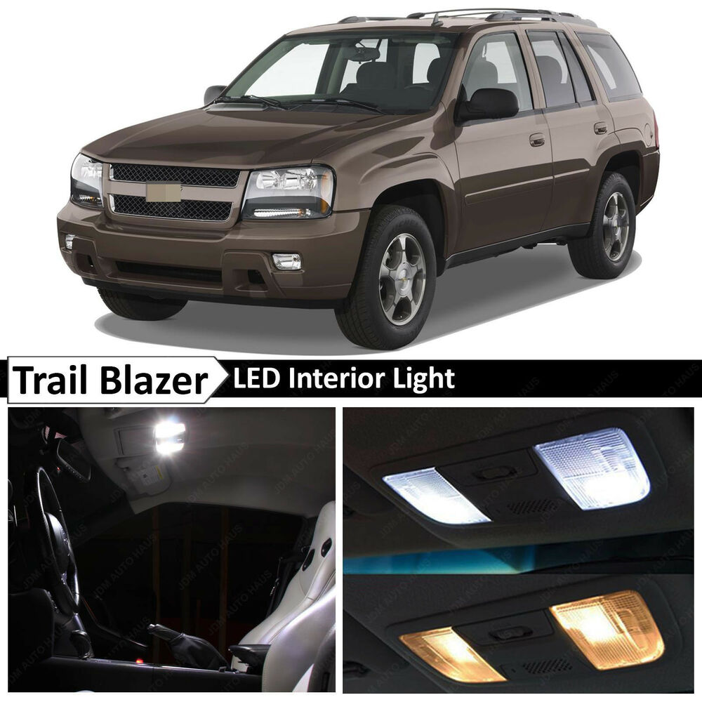 10x white led lights interior package kit for 2002 2009 chevy trailblazer tool ebay for Led car interior lights ebay