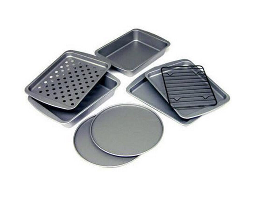 Countertop Convection Oven For Cookies : Toaster Oven Bakeware Set 8 Piece Nonstick Convection Oven Pizza Pans ...