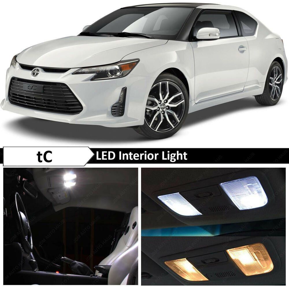 9x White Interior Led Lights Package Kit For 2005 2016 Scion Tc Tool Ebay