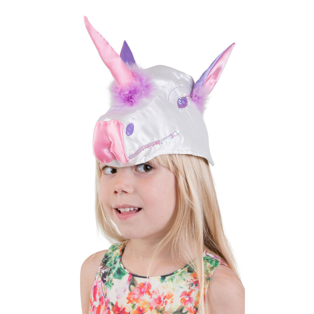 f5e319ab460 Details about Luxury Kids Girls Unicorn Hat Mask Fancy Dress Costume (3-8  years) Lucy Locket