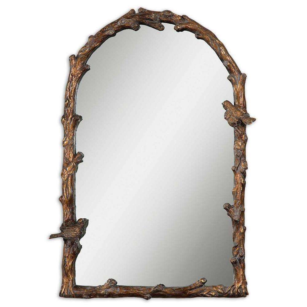 Uttermost 13774 paza antique gold arch mirror ebay for Mirror 84 x 36