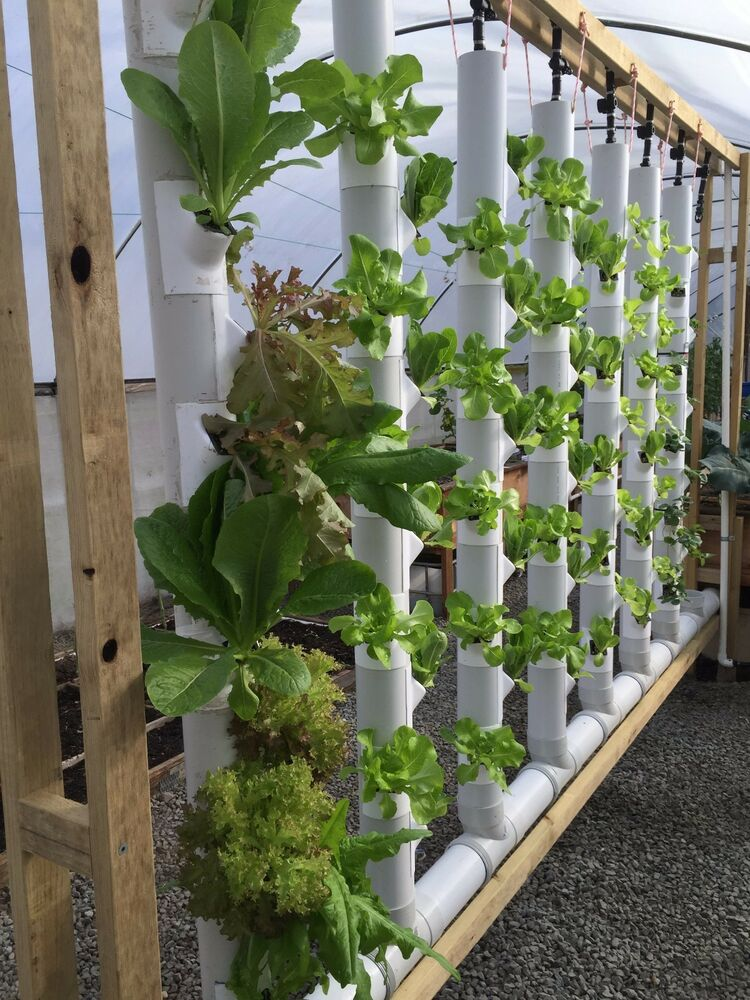 Two 5ft Vertical Garden Towers Kit 18 36 plants Hydroponic