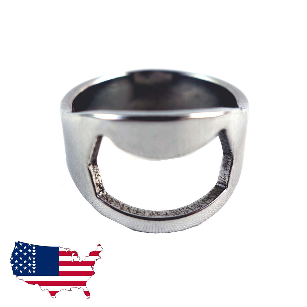 new 5pcs stainless steel finger ring bottle opener bar beer tool colors silver ebay. Black Bedroom Furniture Sets. Home Design Ideas