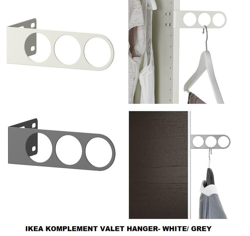 Ikea komplement valet hanger idle for wardrobes white for Ikea complementi