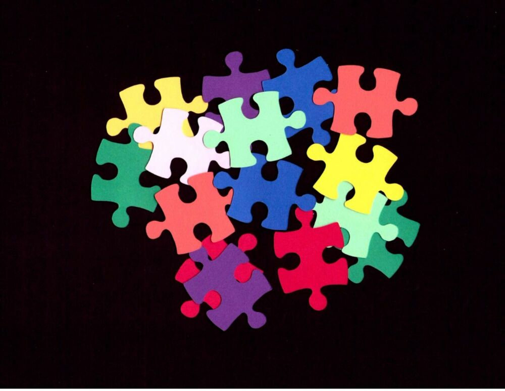 Puzzle pieces sm scrapbooking autism awareness for Decoration or embellishment crossword