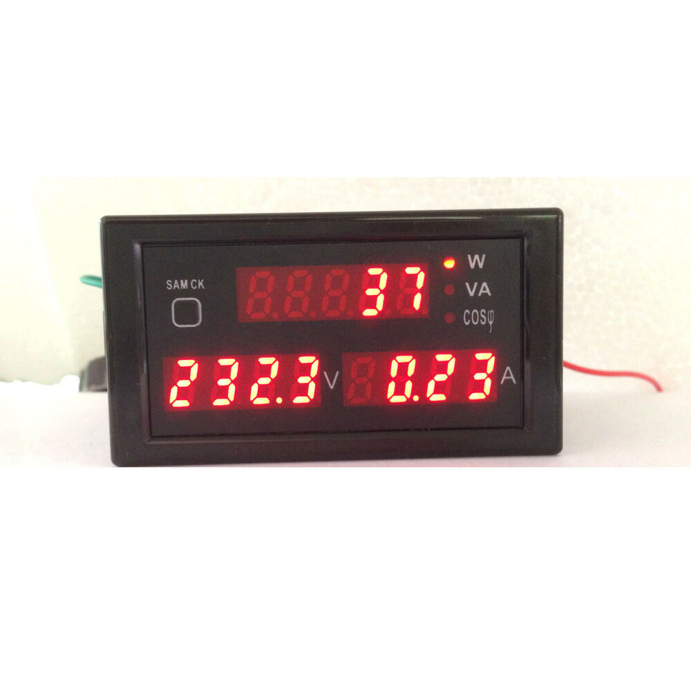 Ac Amp Meter : Ac v digital led a watt power meter volt amp