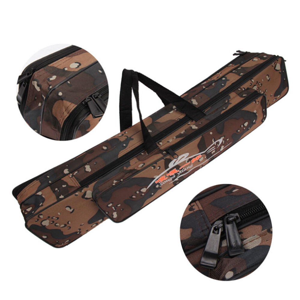 Fishing rod bag outdoor travel organizer pole carry for Fishing pole case