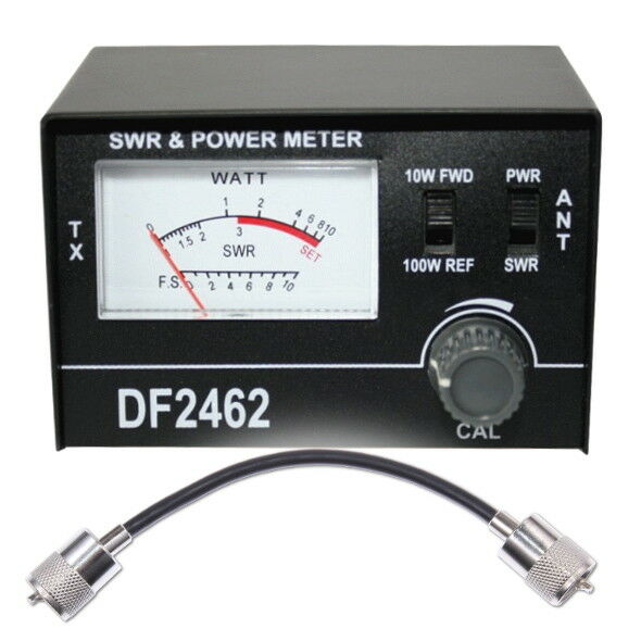 Swr Power Meter : Swr pwr power meter w patch lead cable cb radio