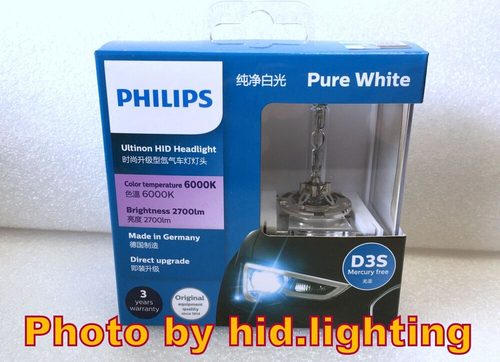 Us Genuine Philips 6000k Ultinon Flash Pure White D3s Hid