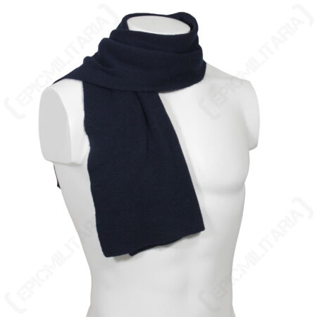 img-German Army Blue Wool Scarf - Winter Scarve Army Military Surplus Woollen Woolly