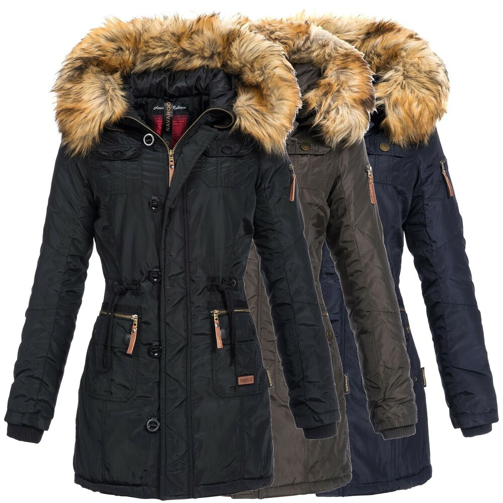 navahoo jane damen jacke parka mantel winterjacke lang. Black Bedroom Furniture Sets. Home Design Ideas
