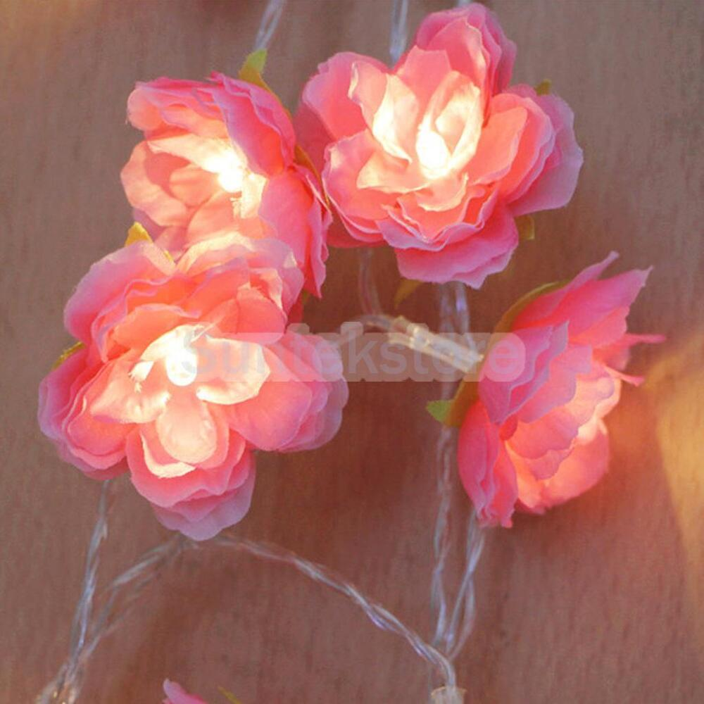 Wedding String Lights Diy : 2M 20-LED Battery Operated Flower String Lamp Fairy Lights Xmas Wedding DIY eBay