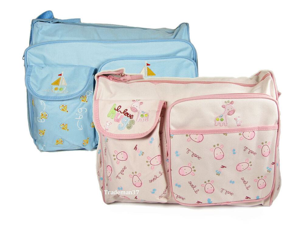 db007 baby diaper mommy bag nappy tote milk bottle bag changing pad 2 choices ebay. Black Bedroom Furniture Sets. Home Design Ideas