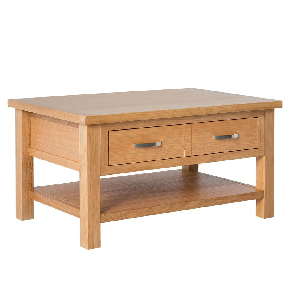 London oak coffee table light lounge solid