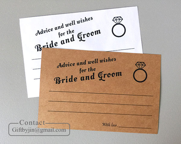 Advice And Well Wishes For The Bride And Groom Cards4x6 Wedding Guest Book