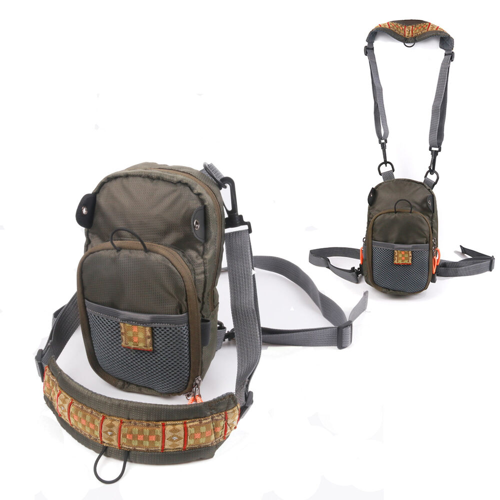 Fly fishing chest pack vest outdoor sports pack 8 for Fly fishing packs