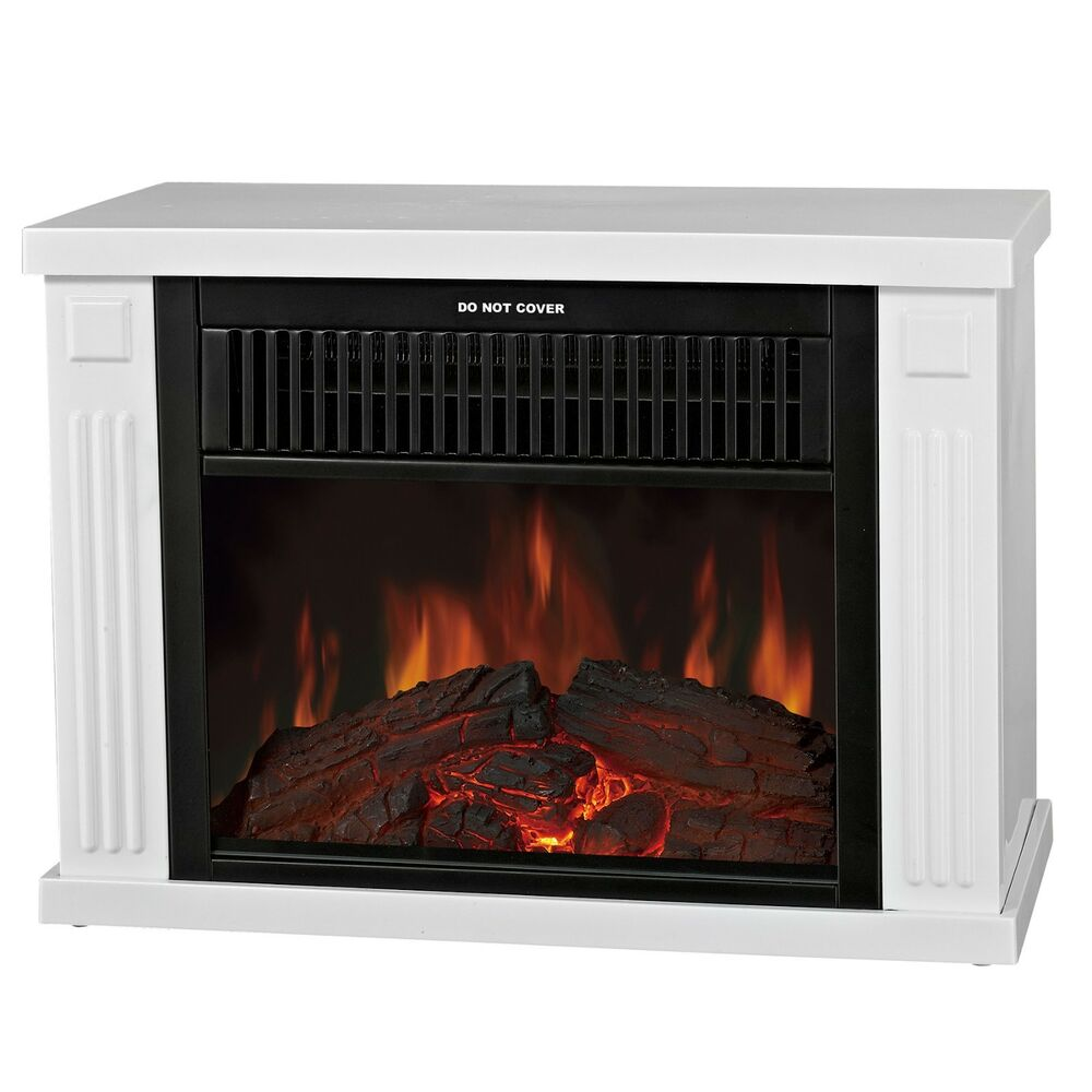 small electric fireplace 13 quot mini portable freestanding 2 setting white electric 13381