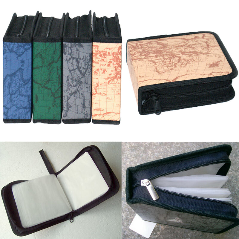 40er cd dvd vcd disc aufbewahrung box case etui tasche h lle mappe koffer wallet ebay. Black Bedroom Furniture Sets. Home Design Ideas