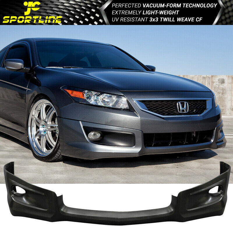 Fit 08 09 10 Honda Accord Coupe 2dr Pu Front Bumper Lip Hfp Style Ebay