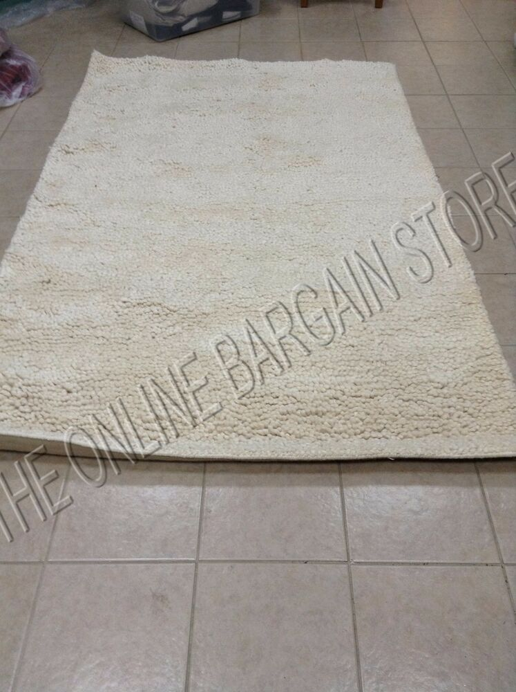Pottery Barn Pb Felt Shag Persian Wool Indoor Area Rug