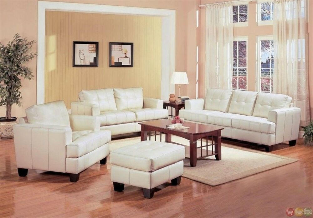white couch living room samuel white bonded leather living room sofa 12219