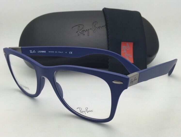 0a8bf5a161 New RAY-BAN Eyeglasses LITEFORCE RB 7034 5439 50-19 150 Lightweight Blue  Frames