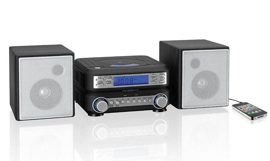 Compact CD Player Home Stereo Music System IPhone FM Radio
