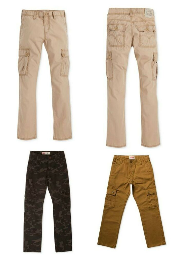 boys levis 511 slim cargo pants jeans brown gold or