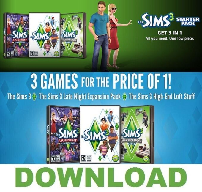 The Sims 3 Download: ORIGIN DOWNLOAD KEY (No DVD