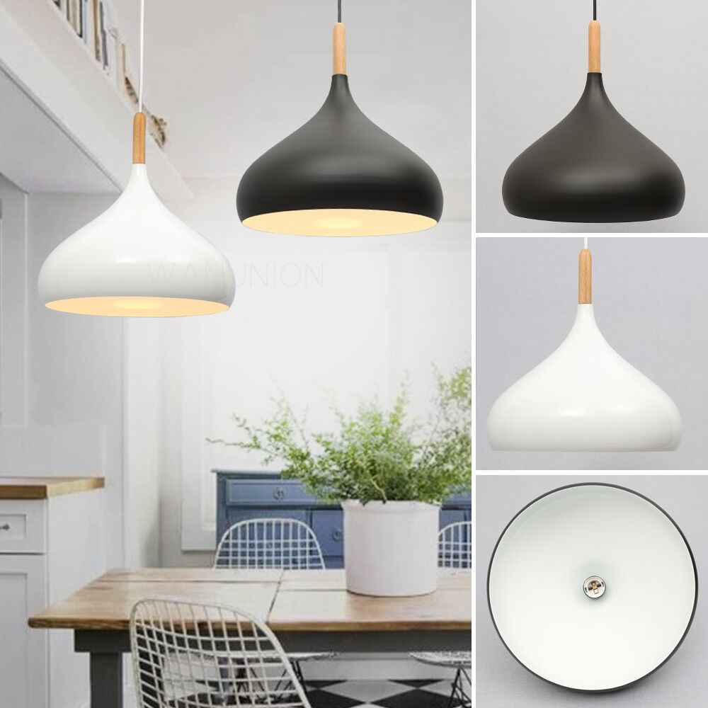 Wood Lighting Fixtures: Modern Wood Onion Light Chandelier Pendant Lighting