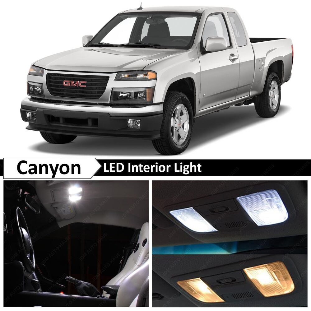 Chevy Colorado Accessories >> 12x White LED Light Interior Package Kit for 2004-2012 GMC Canyon | eBay