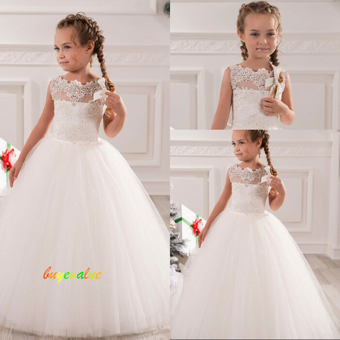 14 blanc robe de mariée fille girl wedding dress Fleuriste flower ...