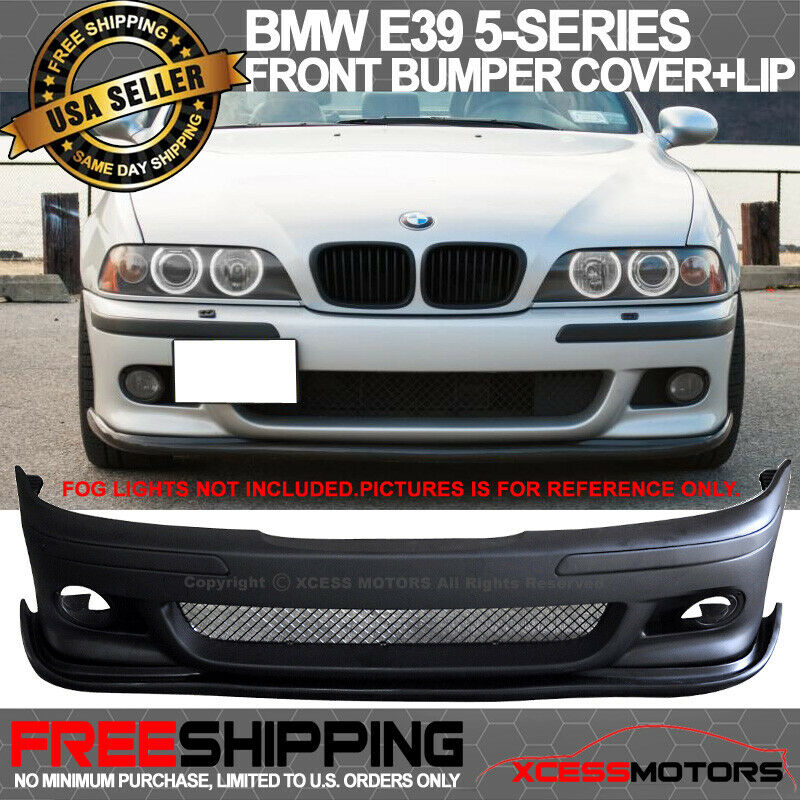96-03 BMW E39 5 Series M5 Style PP Front Bumper Cover + H