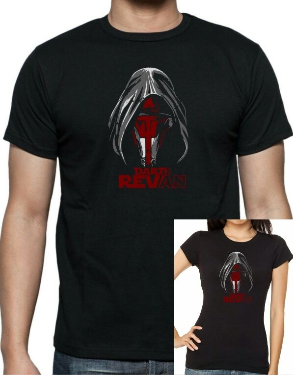 Mens and womens star wars darth revan t shirt sizes up for Size 5x mens dress shirts