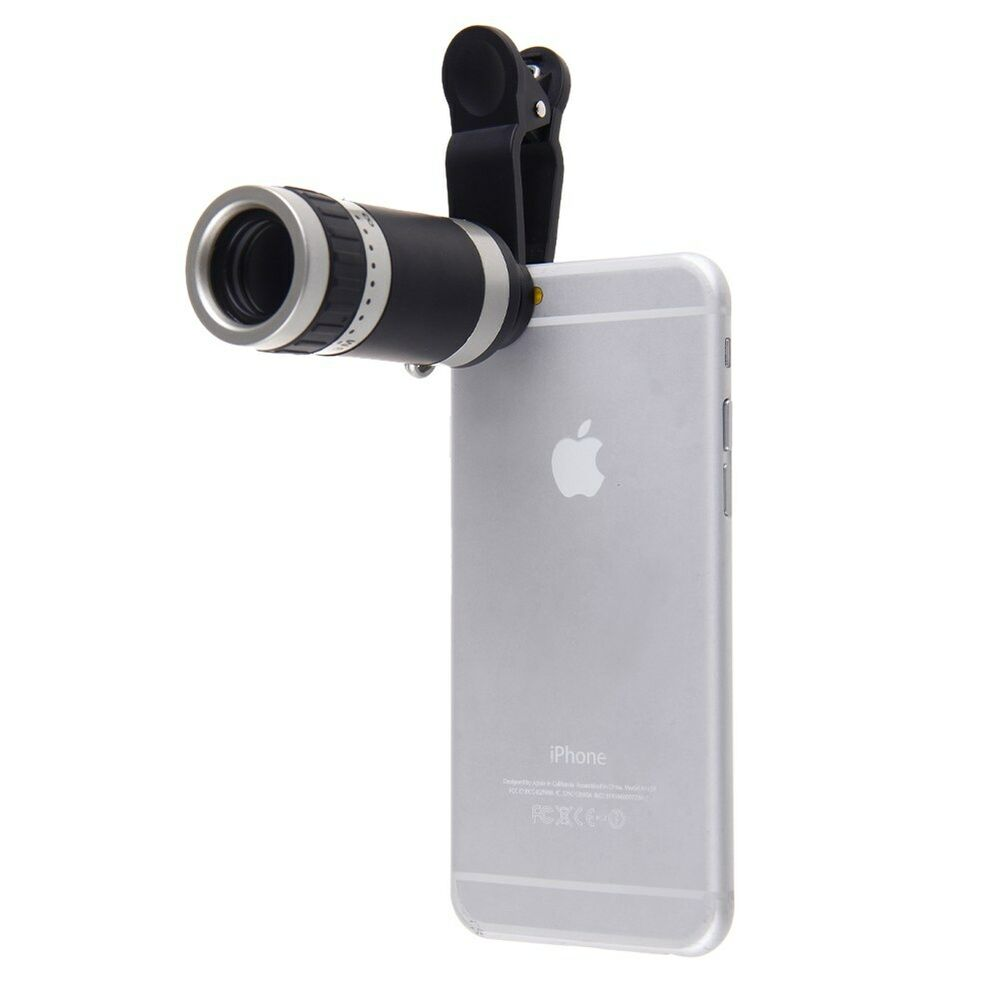 iphone camera lens universal clip on 8x optical zoom telescope lens fr 1421
