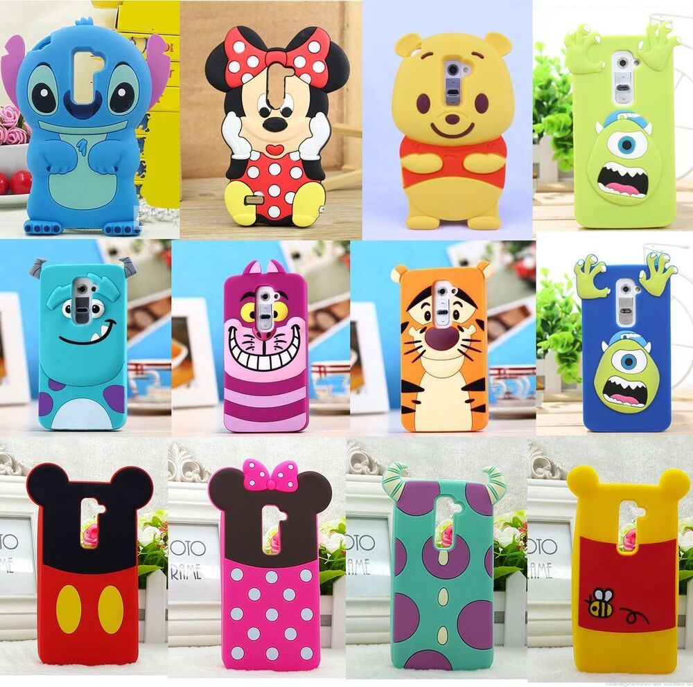 Super Cute Cartoon 3D Minnie Soft Silicone Case Cover For LG G2 802 G2 ...