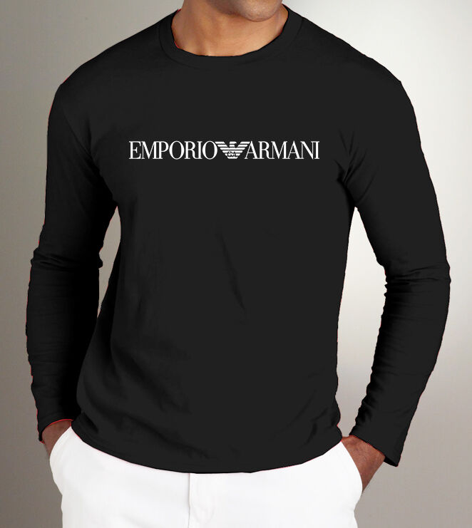 Bnwt emporio armani stylish long sleeve t shirt available for Brand name long sleeve t shirt