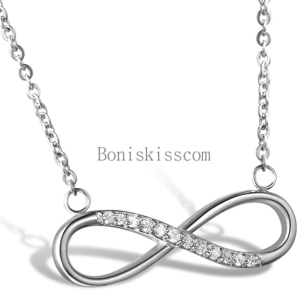 love infinity symbol ladies necklace pendant gift for. Black Bedroom Furniture Sets. Home Design Ideas