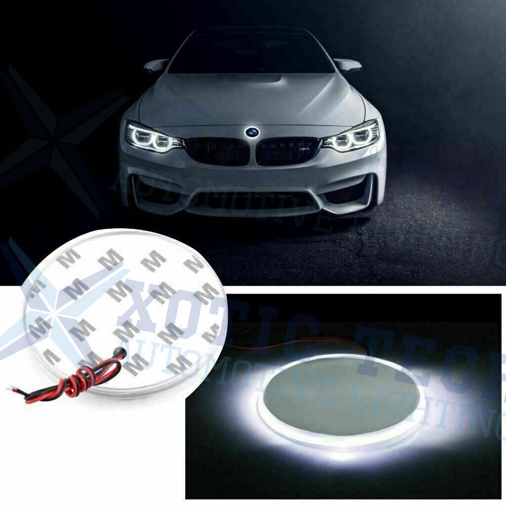 1x 82mm White Emblem Led Background Light For Bmw 3 5 7 X