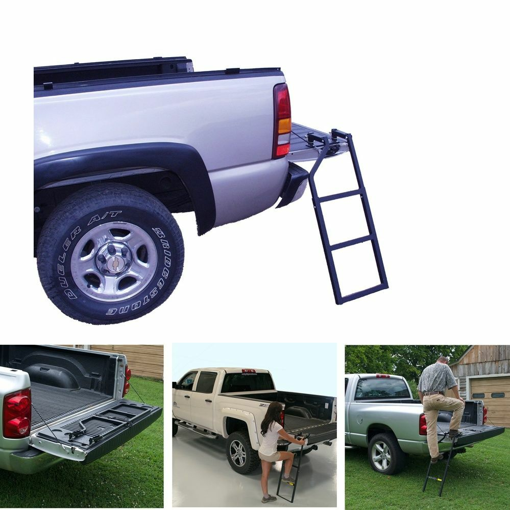 Portable Step For Truck : Truck tailgate ladder portable heavy duty climb step stair