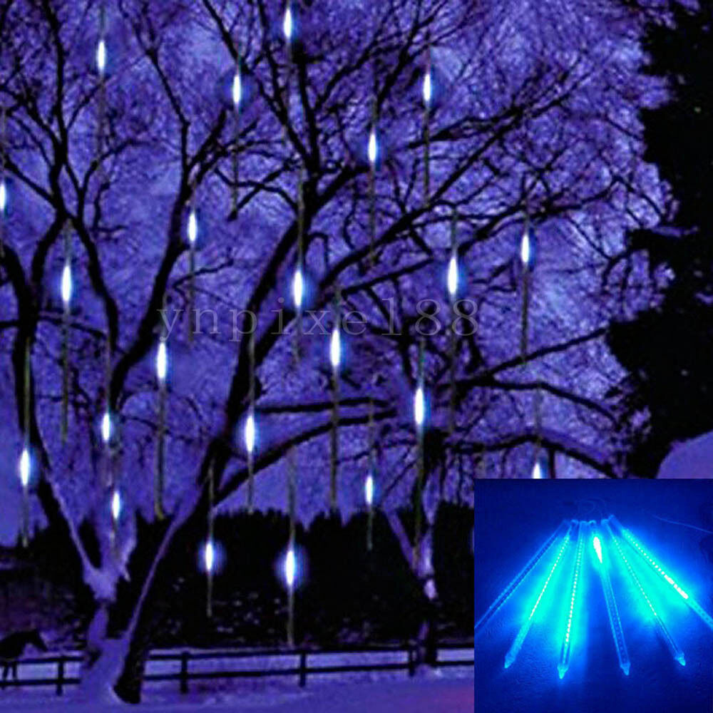 Led Light Outdoor Decoration: 30cm 144 LED Light Meteor Shower Rain 8 Tubes Snowfall